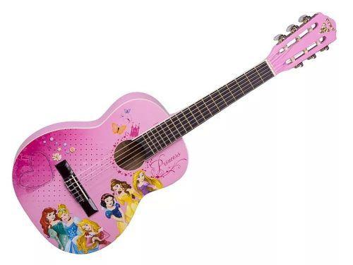 Violão Infantil 1/2 Phx Vip-3 Disney Princesa Afinador Capa