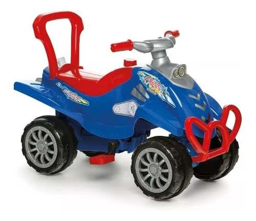 Carrinho Passeio Infantil Empurrador Pedal Bebê Cross Azul