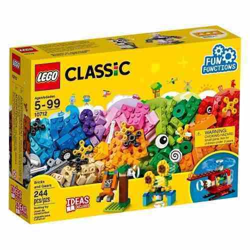Lego Classic - Engrenagens - 244 Peças - 10712 Original