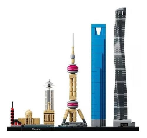 Blocos De Montar Lego Architecture Xangai 597 Peças 21039