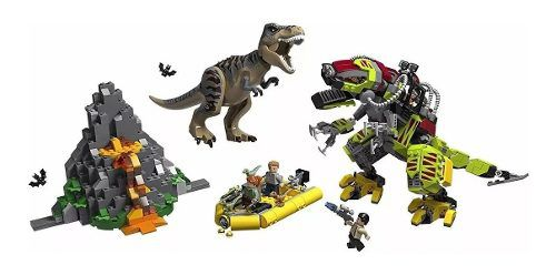 75938 Lego Jurassic World - Combate T-rex X Robô Dinossauro