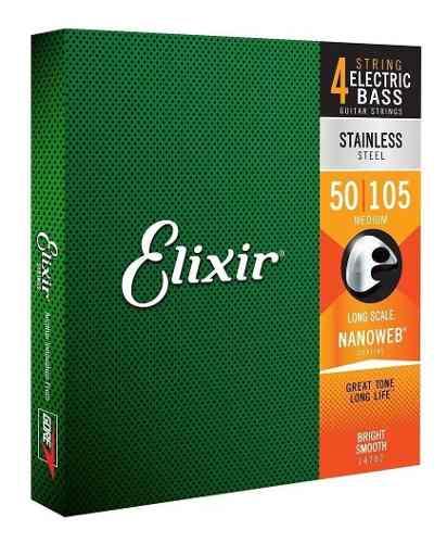 Encordoamento P/baixo 4c Elixir .050 Aço Inoxidável Medium