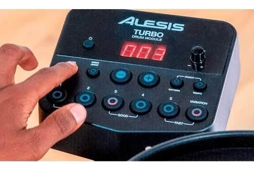 Bateria Eletronica Alesis Turbo Mesh Kit - 7 Peças Com Pele