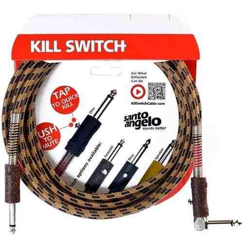 Cabo Para Violão 3 Metros Santo Angelo Kill Switch Plug Em L