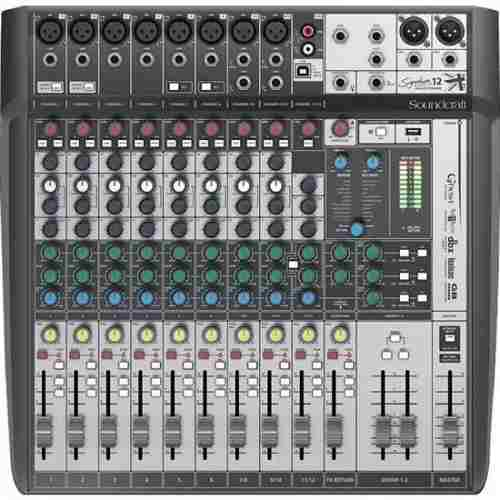 Mesa De Som Soundcraft Signature 12mtk Usb Multi-pista