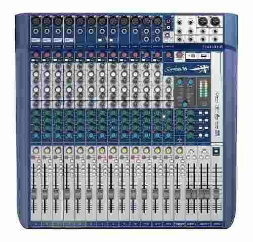 Mesa De Som 16 Canais Soundcraft Signature 16 Usb