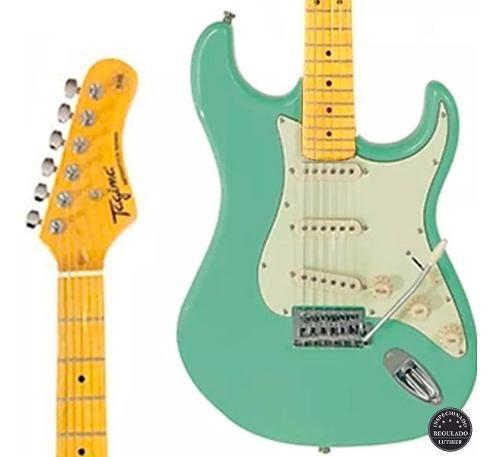 Guitarra Tagima Woodstock Tg-530 Surf Green