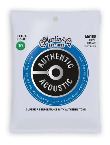 Encordoamento Violão 12 Cordas Martin Authentic Sp Ma180 010