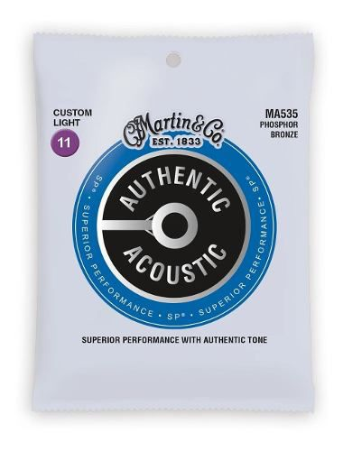 Encordoamento Violão Aço Martin Authentic Sp Phosphor Ma535