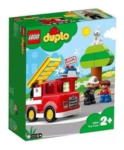 Lego 10901 Duplo Fire Truck - Caminhão Do Bombeiros