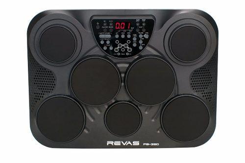 Bateria Eletrônica Revas Roland 2 Pedais Fonte Pb350 7 Pads