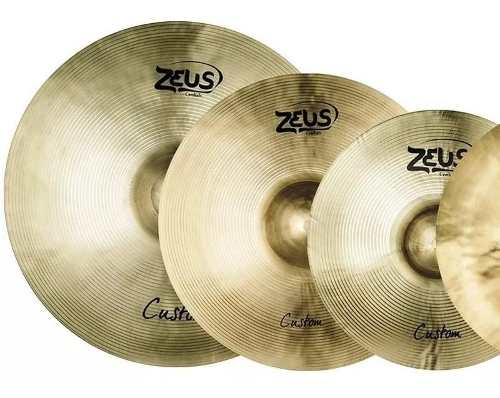 Kit De Pratos Zeus Custom Set E 10 14 16 18 20 + Bag