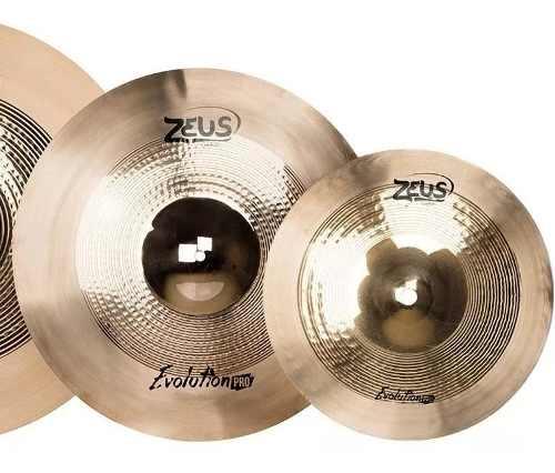Kit De Pratos Zeus Evolution Pro D 14 16 18 20 + Bag