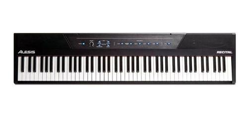 Piano Digital Alesis Recital 88 Teclas C/ 1 Ano De Garantia