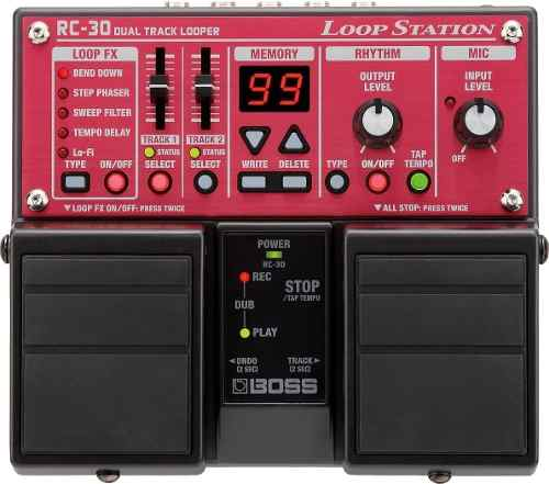 Pedal Boss Rc 30 Loop Station Boss Rc30 Dual Track