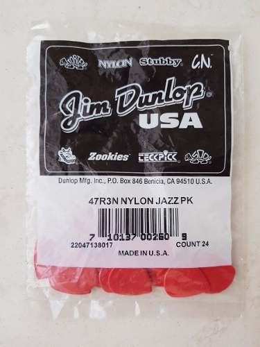 Palheta Dunlop Jazz Iii 3 Vermelha - Pacote 24 Unidades