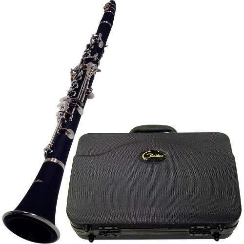 Clarinete Musical Shelter Tjs6402bb 17 Chav Niq Case Palheta