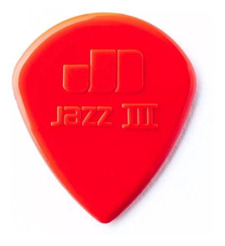 Kit Pacote 6pçs Palheta Dunlop Jazz Iii Vermelha,promoção!