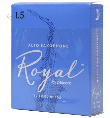 Palheta Saxofone Alto 1.5 Rico Royal Caixa Com 10