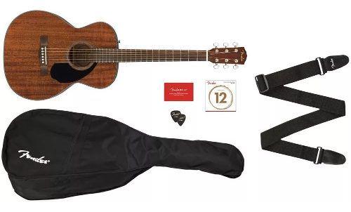 Violão Fender Concert Solid Top Cc-60s Pack All Mahogany