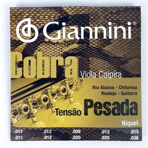 3 Jogos De Cordapara Viola Caipira Giannini Cobra Rio Abaixo