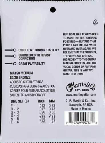 Encordoamento Martin 013 Violão Aço Bronze 80/20 013-056