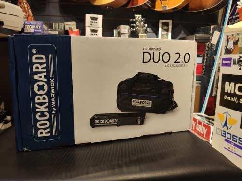 Pedalboard Rockboard Duo 2.0 31,8x14,2cm Com Gig Bag