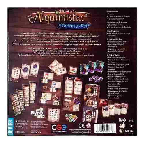 Jogo De Tabuleiro Alquimistas Expansão O Golem Do Rei Devir