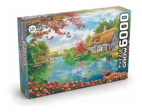 Quebra Cabeça Puzzle Recanto Das Flores P6000 Peças - Grow