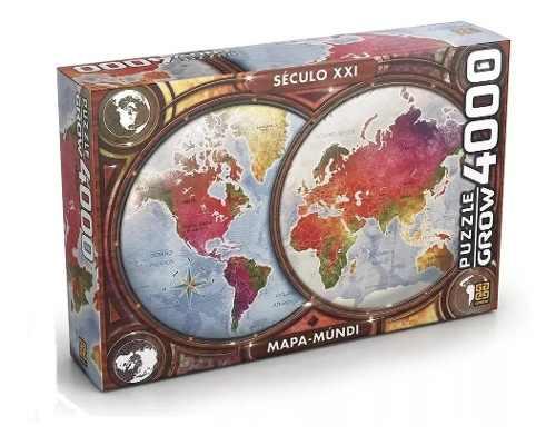 Puzzle Quebra Cabeça Grow Mapa Múndi 4000 Peças