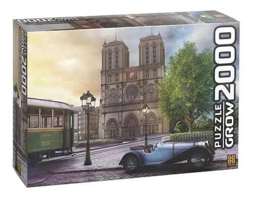 Quebra Cabeça Puzzle 2000 Peças Catedral Notre-dame Grow
