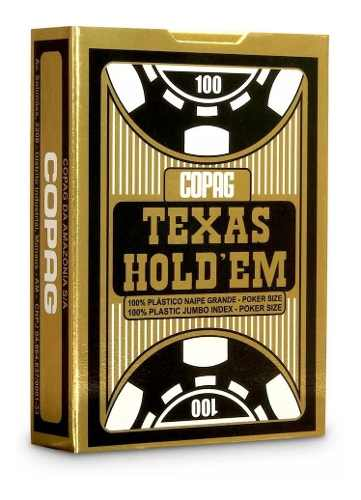 4 Baralhos Texas Holdem 100% Plástico - Naipe Grande - Copag