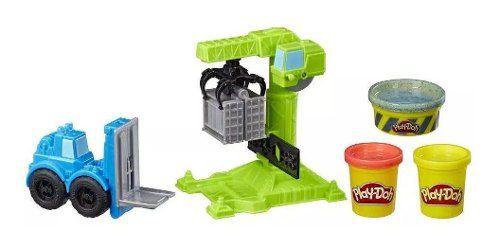 Massinha Play-doh - Wheels - Guindaste E Empilhadeira E5400