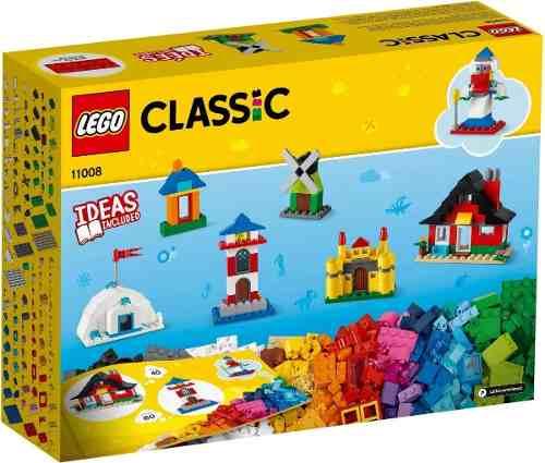 Lego Classic 11008 Blocos E Casas 270 Peças C/ Livro Ideias