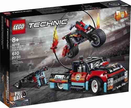 42106 Lego Technic - Motocicleta E Caminhão De Acrobacias