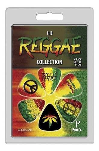 Kit C/3 Pack De Palheta 6 Un Cada - Peace, Reggae E Emoji