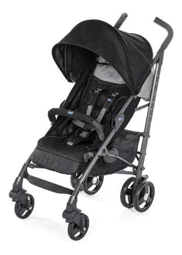 Carrinho De Bebê Passeio Lite Way Basic 3 Jet Black Chicco