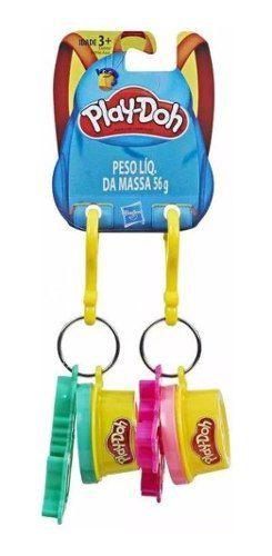 Massinha Play-doh- Kit Com 5 Unidades Chaveiro Sortido E4996