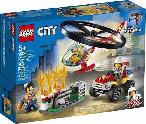 Lego City - Combate Ao Fogo Com Helicóptero - Lego 60248