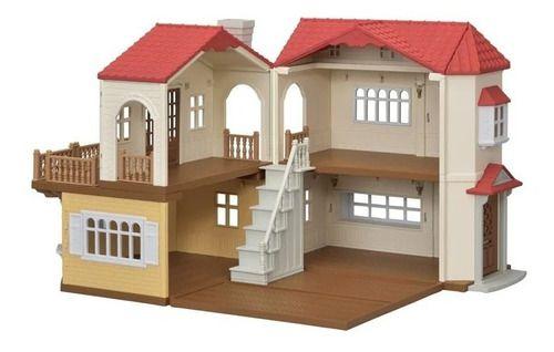 Sylvanian Families Casa Telhado Vermelho C/ Luzes - 5302