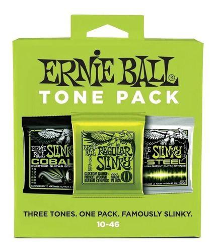 Tone Pack Ernie Ball Guitarra .10 Kit Com 3 Cordas