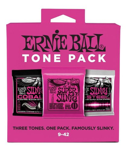 Tone Pack Ernie Ball Guitarra .09 Kit Com 3 Cordas