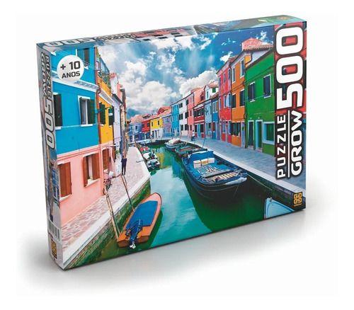 Quebra-cabeça Puzzle P500 Canal De Burano 03457 Grow