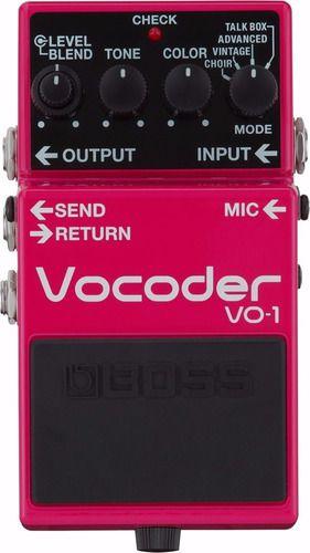 Pedal Boss Vo-1 Vocoder Vocal Guitarra Vo1 Talk Box C/ Nota