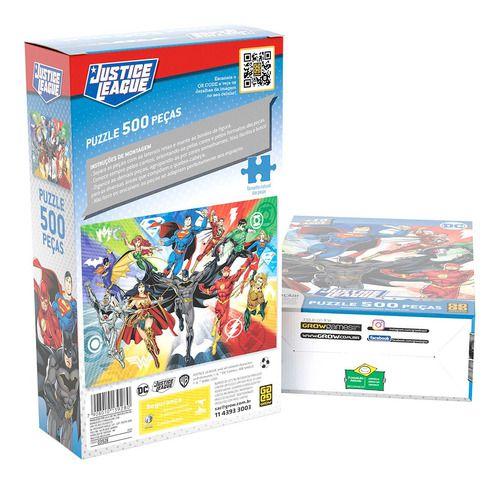 Quebra-cabeça Puzzle P500 Peças Liga Da Justiça 2.0 - Grow