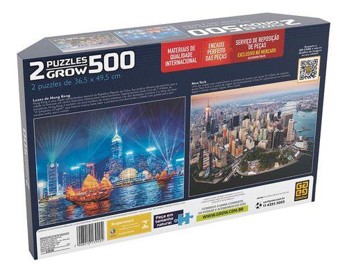 Quebra-cabeça Puzzle P500 Peças Duplo Skylines Cosmopolitas