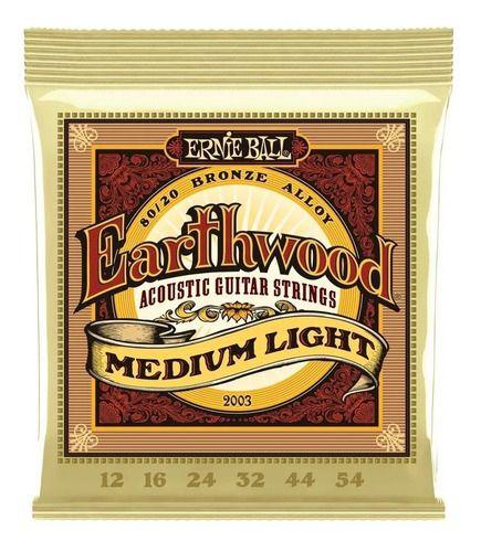 Corda De Violão Aço 012 / 054 Earthwood Medium Light 2003