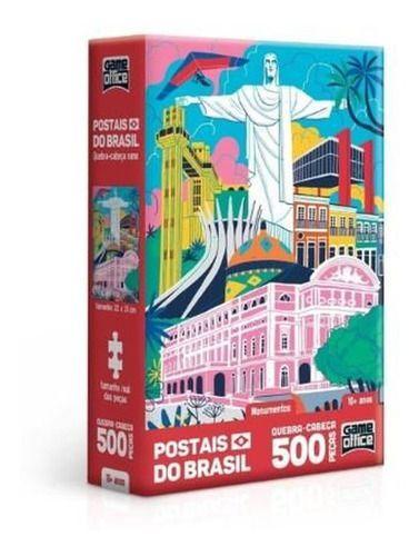 Quebra Cabeça Monumentos Postais Do Brasil 500 Peças Toyster