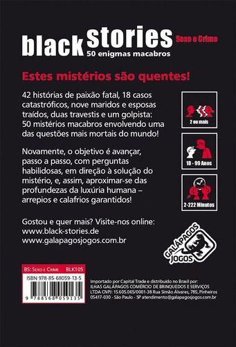 Black Stories Sexo & Crime - Jogo De Cartas - Galápagos