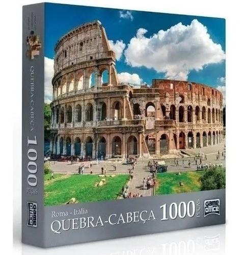 Quebra-cabeça Puzzle De 62x45 P1000 Peças Roma - Toyster